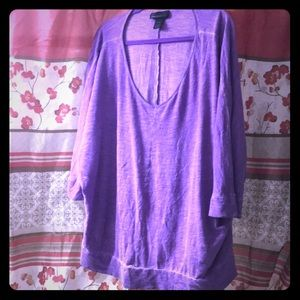 Lane Bryant Purple Top Cute with Jeans Size 26/28